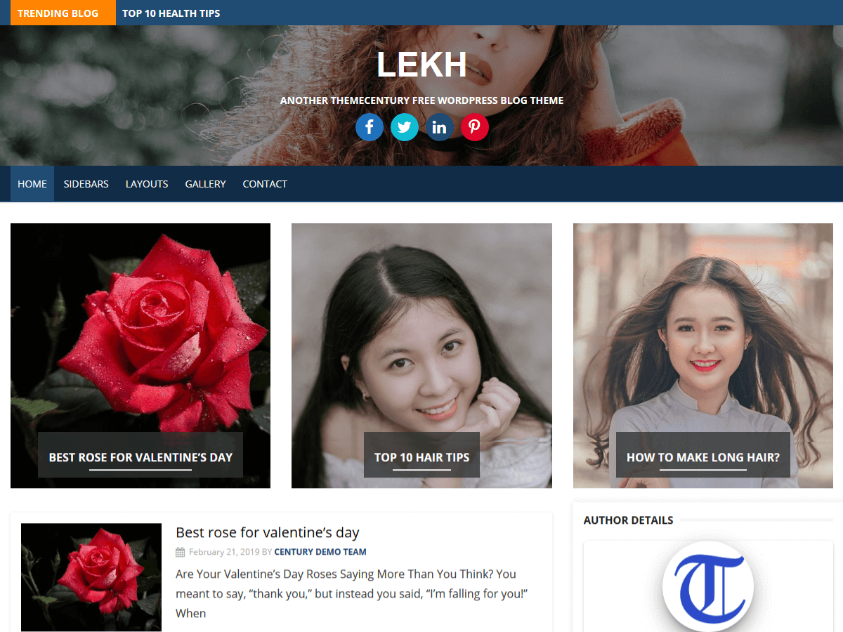 Lekh - Free WordPress Theme