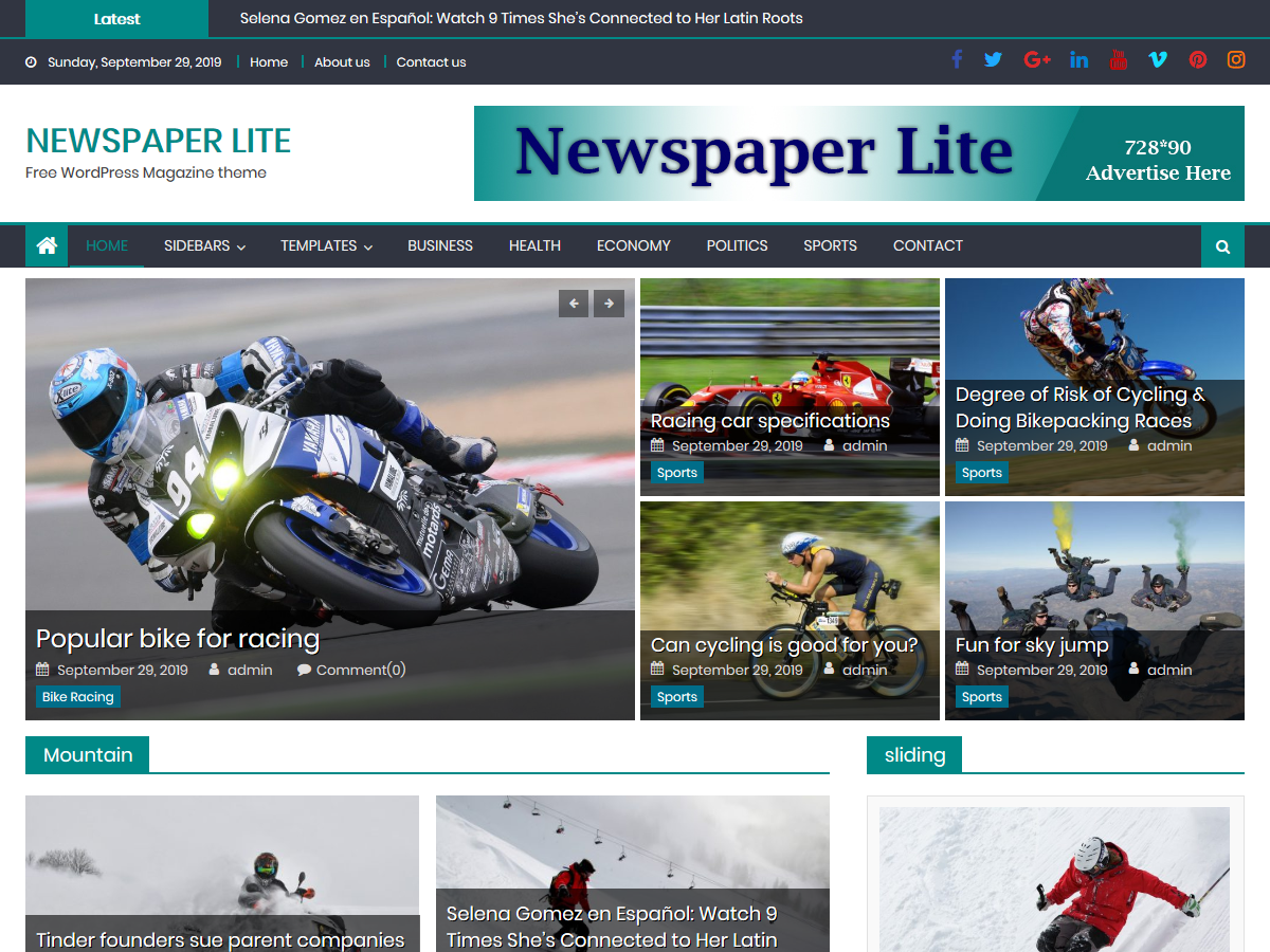 Newspaper Lite - Magazine Theme
