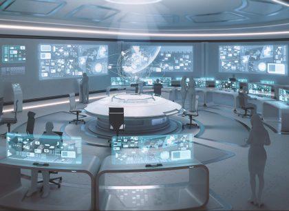 غرفة التحكم في طيران المحطة الفضائية   NASA